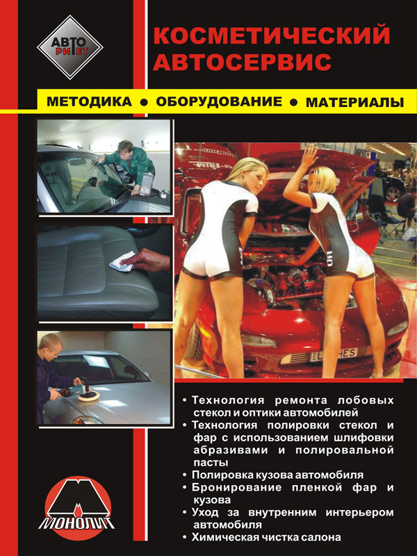 Cosmetic auto repair, repair of windshields and car optics, car body polishing, in eBook